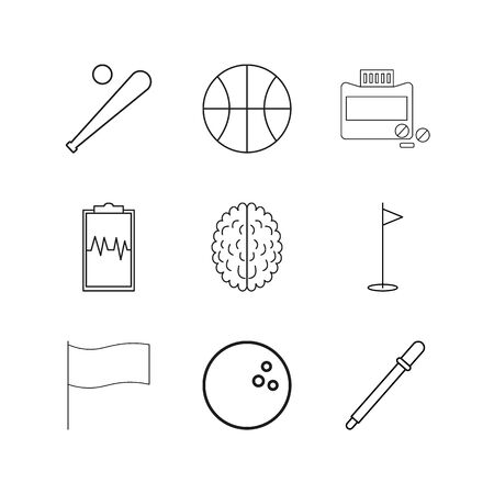 Medical linear icon set. Simple outline icons