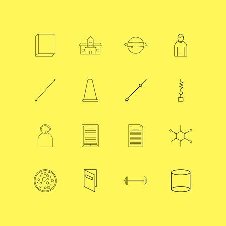 Science linear icon set. Simple outline icons illustration.