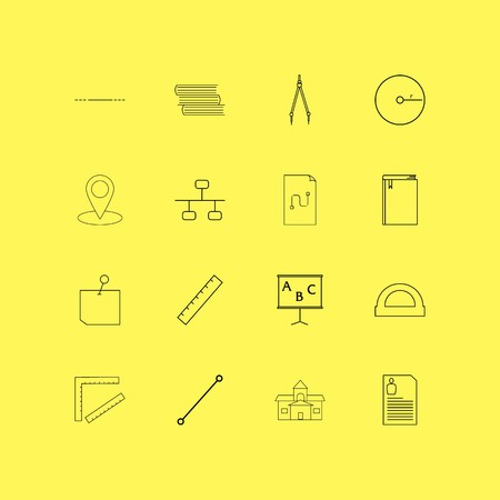 Education linear icon set. Simple outline icons Vettoriali