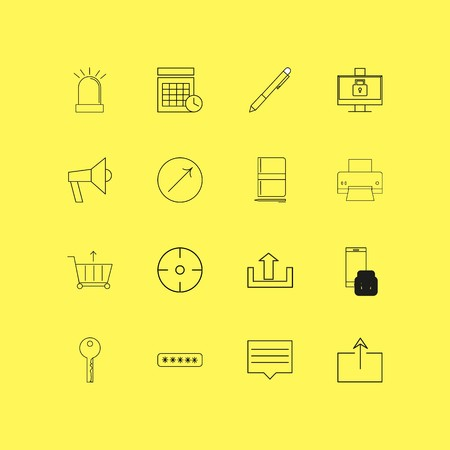 Internet of things linear icon set. Simple outline icons illustration.