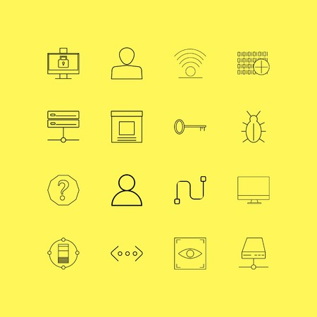 Internet Technologies linear icon set. Simple outline icons