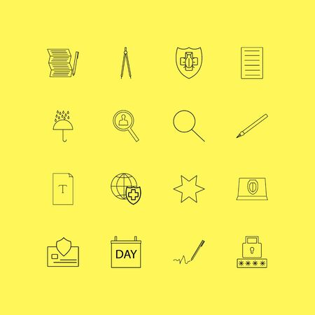 Internet of things linear icon set. Simple outline icons illustration. Zdjęcie Seryjne - 95293043