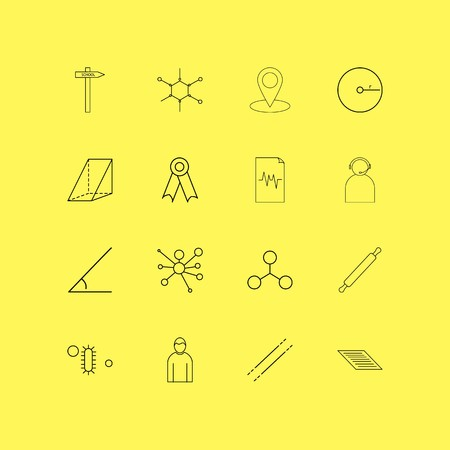 Education linear icon set. Simple outline icons Vectores