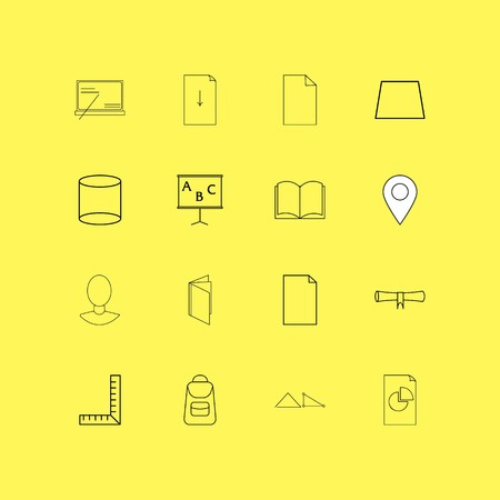 Education linear icon set. Simple outline icons illustration. Illustration