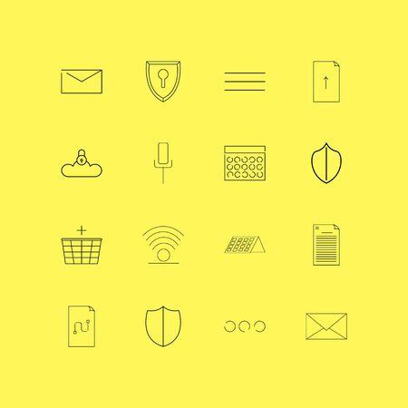 Internet Of Things linear icon set. Simple outline icons. Ilustração