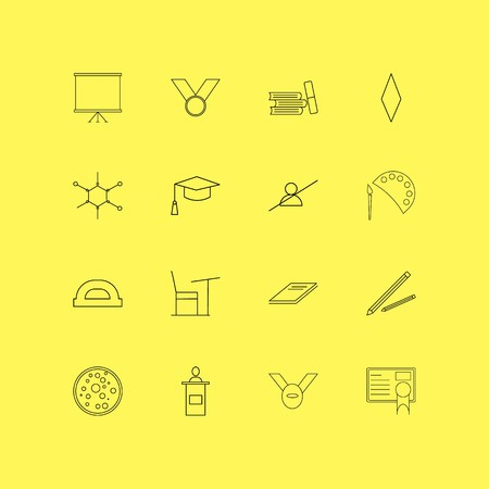 Education linear icon set. Simple outline icons Stock Illustratie