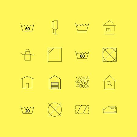 Laundry linear icon set. Simple outline icons Illustration