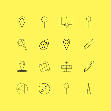 Map And Navigation linear icon set. Simple outline icons Illustration