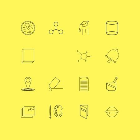 Education linear icon set. Simple outline icons.