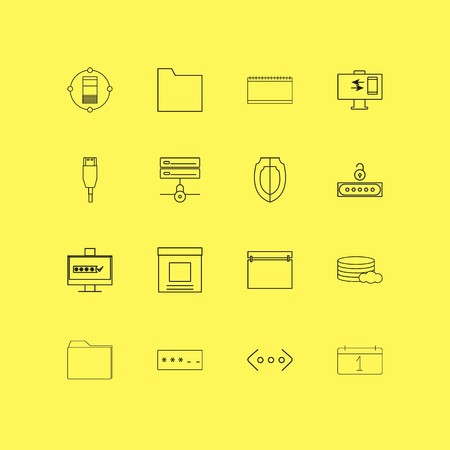 Internet Technologies linear icon set. Simple outline icons.