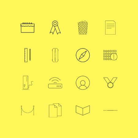 Essential linear icon set. Simple outline icons.