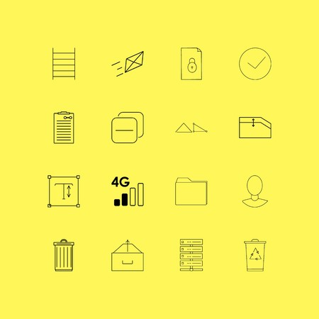 Essential linear icon set. Simple outline icons