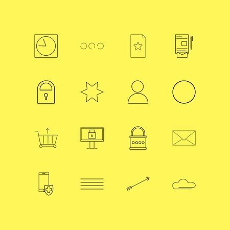 Internet Of Things linear icon set. Simple outline icons Фото со стока - 95293942
