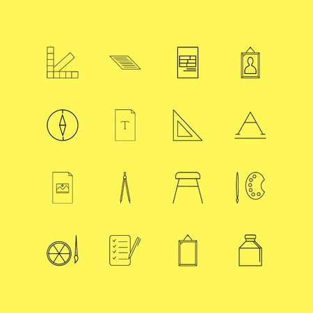 Design Elements linear icon set. Simple outline icons