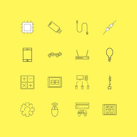 Apparaten lineaire icon set. Eenvoudige overzichtspictogrammen Stockfoto - 95454585