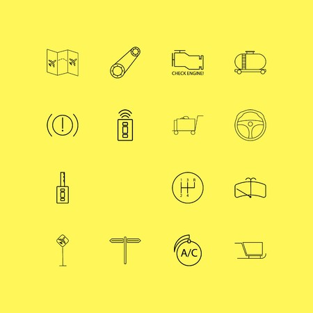 Transport And Transportation linear icon set. Simple outline icons