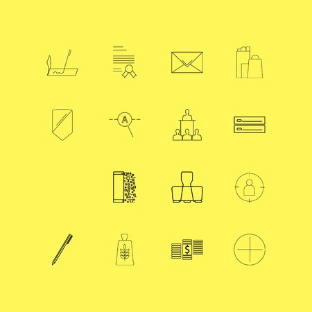Business linear icon set. Simple outline icons 일러스트