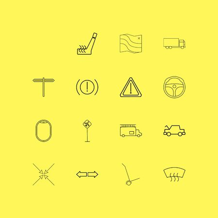 Transport And Transportation linear icon set. Simple outline icons.