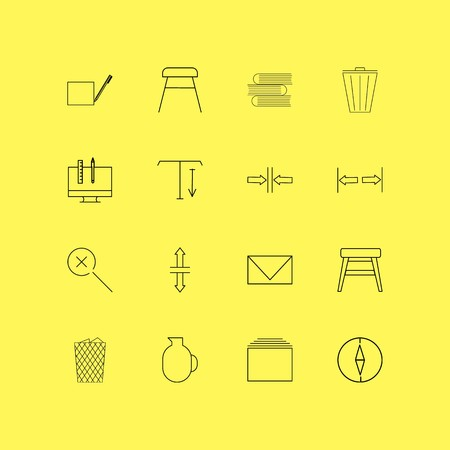 Design Elements linear icon set. Simple outline icons. Фото со стока - 95773518