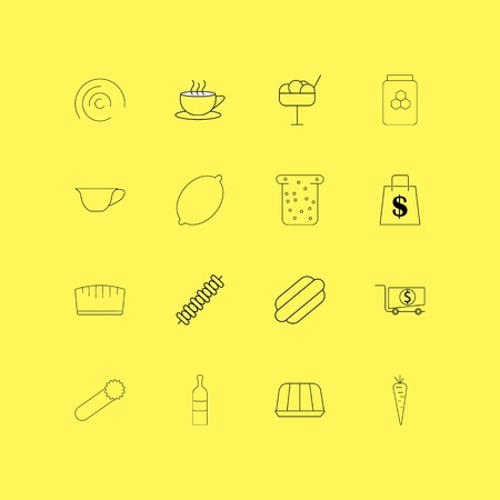 Food And Drink linear icon set. Simple outline icons.