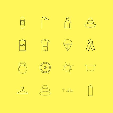 Sport And Wellness linear icon set. Simple outline icons