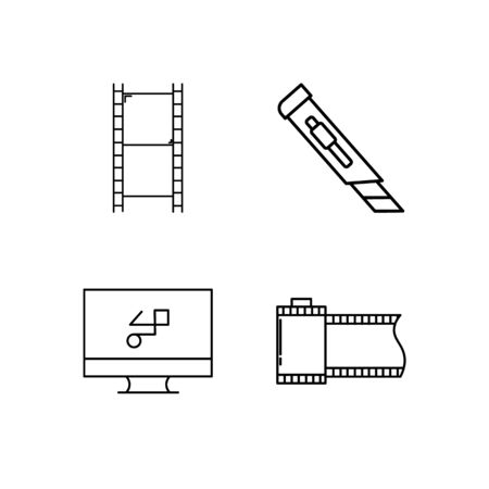 Design And Studio simple linear icon set. Simple outline icons