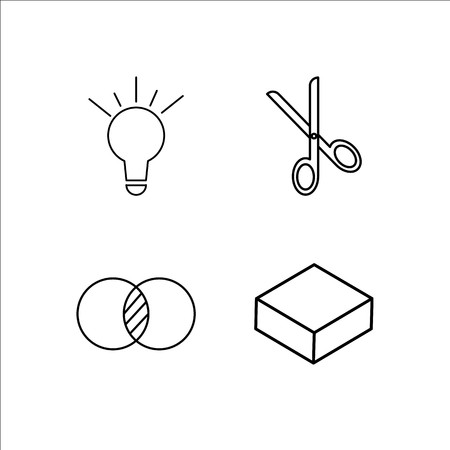 Design And Studio simple linear icon set Simple outline icons