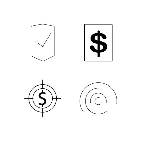 Business simple linear icon set.Simple outline icons Illustration