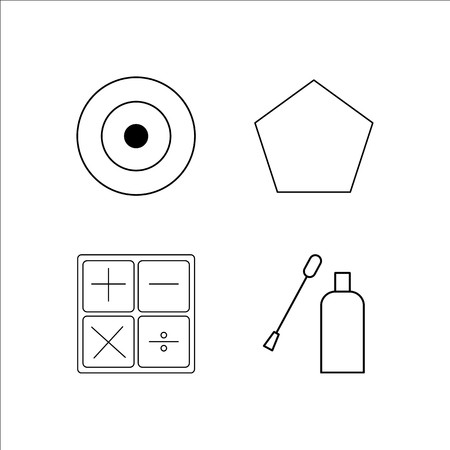Education simple linear icon set.Simple outline icons