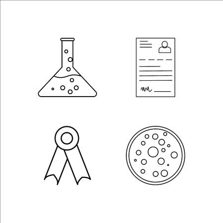 Onderwijs eenvoudige lineaire icon set. Eenvoudige overzicht pictogrammen Stockfoto - 96280419