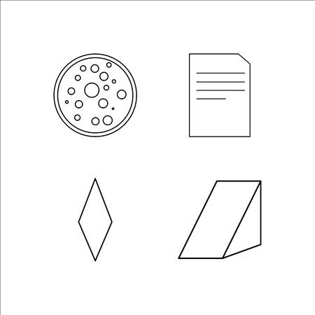 Education simple linear icon set.Simple outline icons Foto de archivo - 96365254