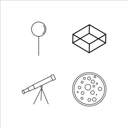 Education simple linear icon set.Simple outline icons Foto de archivo - 96299040