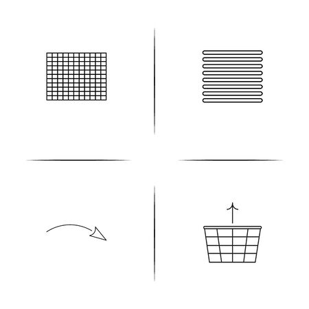 Web linear simple vector icon set.Outline icons Illustration