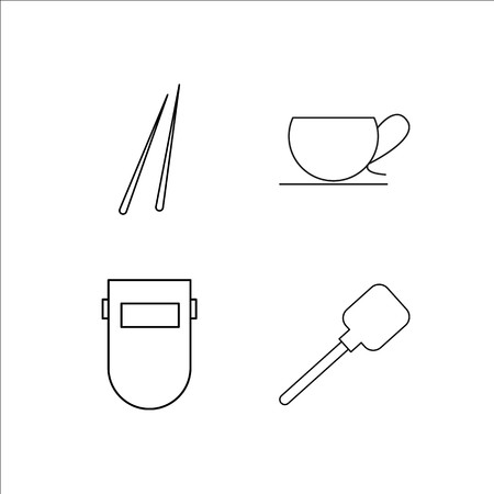 Home Appliances simple linear icon set.Simple outline icons 일러스트