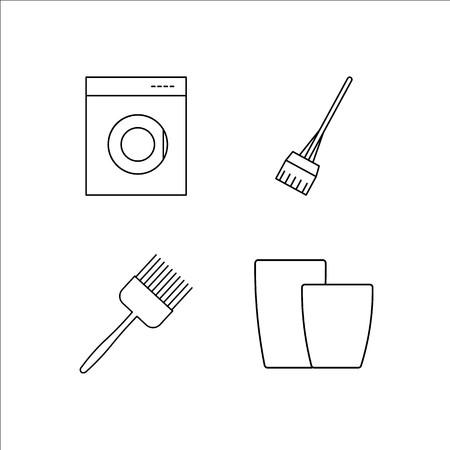 Huistoestellen eenvoudige lineaire icon set. Eenvoudige overzicht pictogrammen