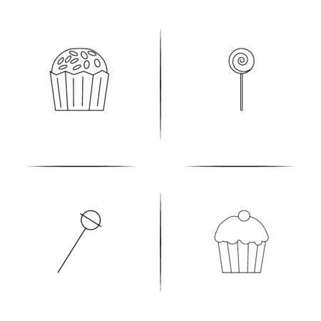 Food And Drink linear simple vector icon set.Outline icons Zdjęcie Seryjne - 96653089