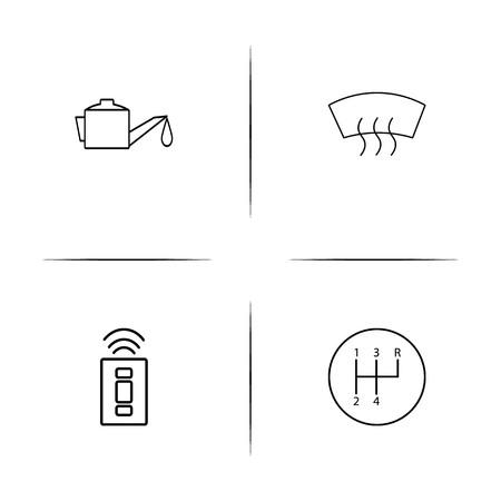 Cars And Transportation linear simple vector icon set.Outline icons Illustration