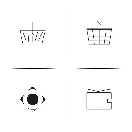 Business linear simple vector icon set.Outline icons Illustration