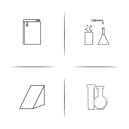 Education simple linear icon set. Simple outline icons.