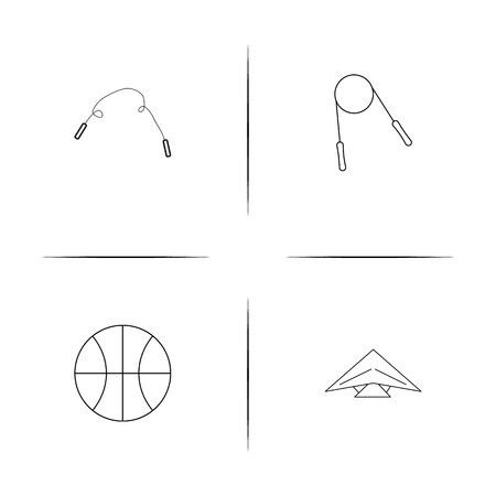 Sport Fitness And Recreation simple linear icon set. Simple outline icons.