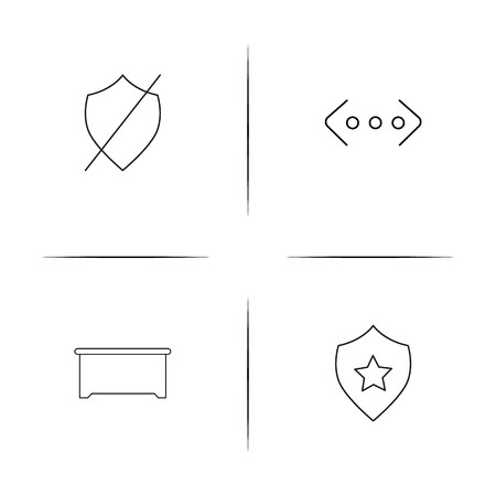 Business simple linear icon set.Simple outline icons 일러스트