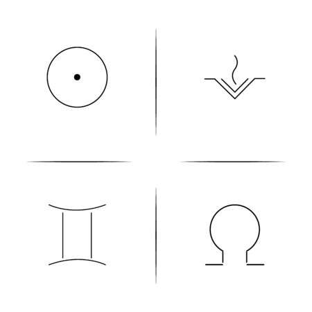 Astrology simple linear icon set.Simple outline icons
