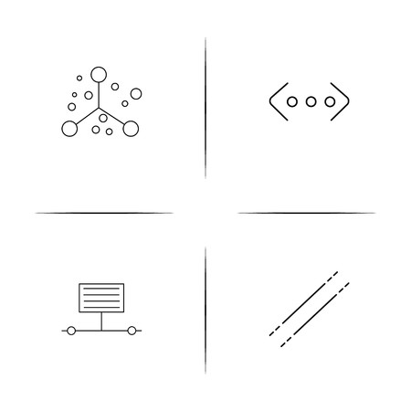 Education And Science simple linear icon set.Simple outline icons