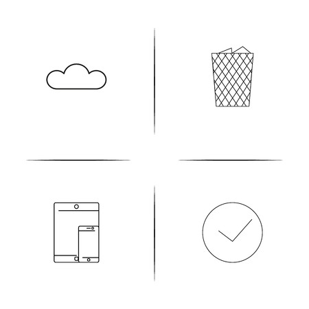 Web And Text simple linear icon set.Simple outline icons