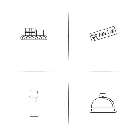 Travel simple linear icon set.Simple outline icons Vector illustration.