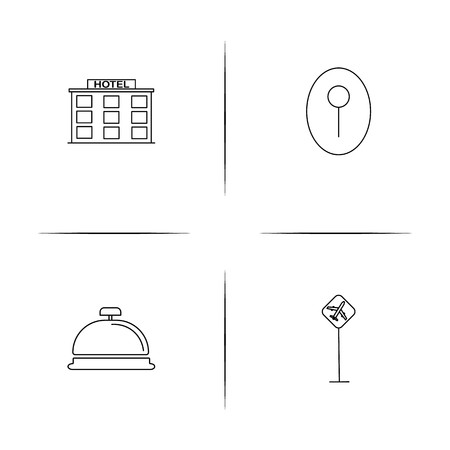 Travel simple linear icon set.Simple outline icons