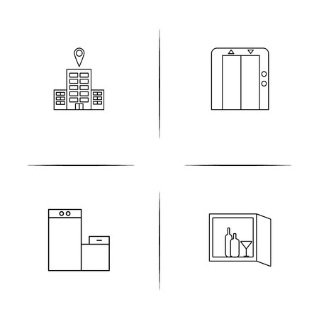 Travel simple linear icon set. Simple outline icons
