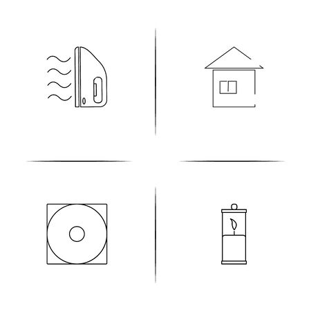 Home Appliances And Equipment simple linear icon set. Simple outline icons