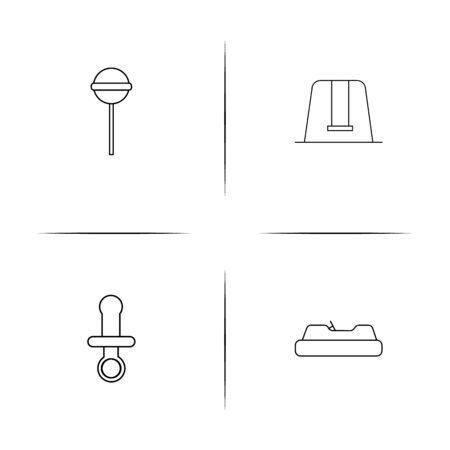 Baby, Kid And Newborn simple linear icons set. Outlined vector icons.