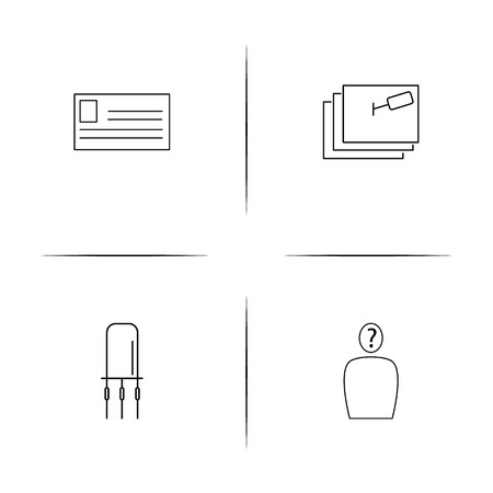 Education And Science simple linear icons set. Outlined vector icons